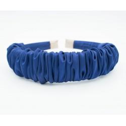 Fruncida Saten Azul Marino